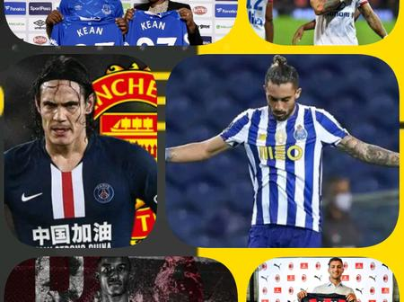 Latest Done Deals: Cavani Moves to Manchester United, Memphis Agrees Deal with Barcelona And More.