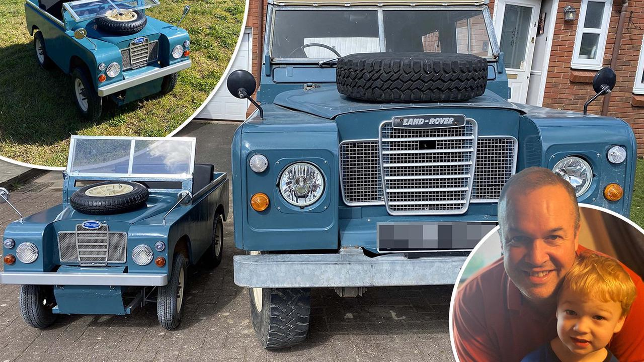 Dad builds miniature version of family's Land Rover for car-mad son