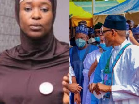 See What Aisha Yesufu Said After The President Was Spotted Not Wearing A Face Mask