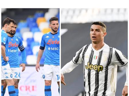 Checkout The New Record Ronaldo Set After His Game Against Napoli