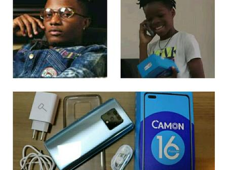 Wizkid Gifts His Son Latest Tecno Phone 24 Hours After Cracking the Previous (See Photos)