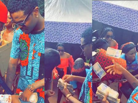 23-Year-Old Igbo Big Boy Rains Money On His Beautiful Wife As They Bury Her Father In Anambra Today