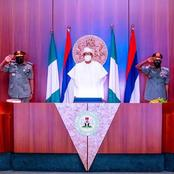 You Have Few Weeks To Secure The Country- President Buhari Charge New Service Chiefs (VIDEO)
