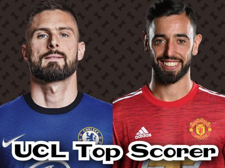 GIROUD Scores 4 Goals To Overtake Bruno Fernandes In The Golden Boot List, See The UCL Top Scorers