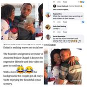 See Funny Comments Netizens Made When Rev Obofour Chills With His Wife In A Yatch In Dubai