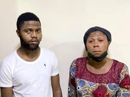Reactions As A Man And His Mother Were Arrested For Engaging In Internet Fraud
