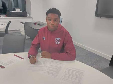 Nigerians have talented footballers: Checkout the Nigerian youngster who recently joined West Ham