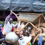 DP Ruto's Top Ally Amazes Kenyans After 'Ferrying' People To A Rally Using A Wheelbarrow