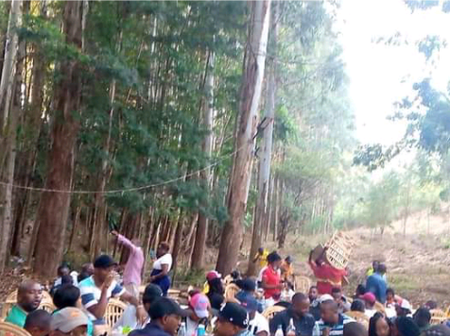 Mixed Reactions As Police Reveal How Cunning Kenyans Are Now Drinking Alcohol In The Forest
