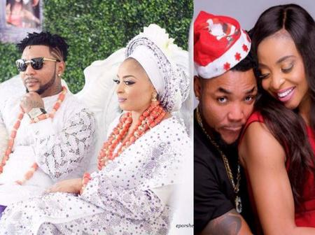 'Don't let what people say jeopardize our happiness', Oritsefemi tells wife, Nabila Fash.