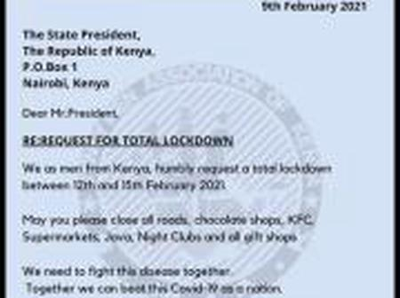 President Uhuru gets a proposal to Declare total lock down between 12th and 15th February 2021