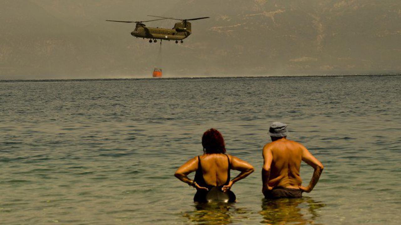 """Brände im Mittelmeerraum : """"Wir hatten einen dramatischen Tag"""""""