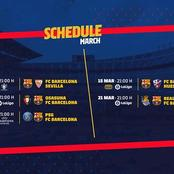 Barcelona Schedule For March Revealed