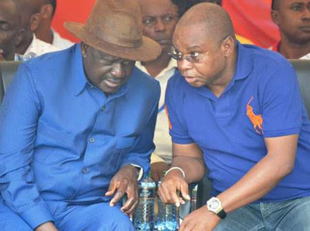 Angry Amason Kingi Lectures Raila Face to Face Amid ODM Exit (Video)