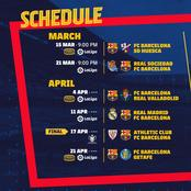Schedule Reminder: Check out Barca's next 8 games.