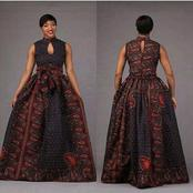 Nice Ankara Maxi Gown For Ladies Who Want To Look Cute And Charming