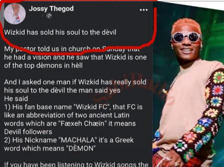 Reactions after a man said Wizkid have sold his life to the Devil