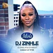 DJ Zinhle looked at a man bum on Idols SA