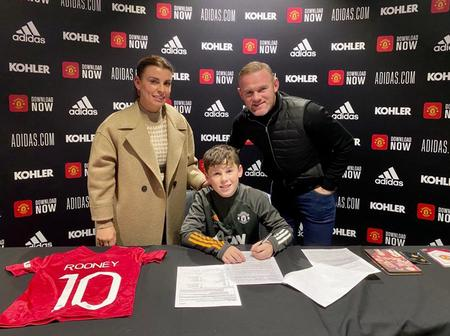 Wayne Rooney's Son, Kai Signs For Manchester United