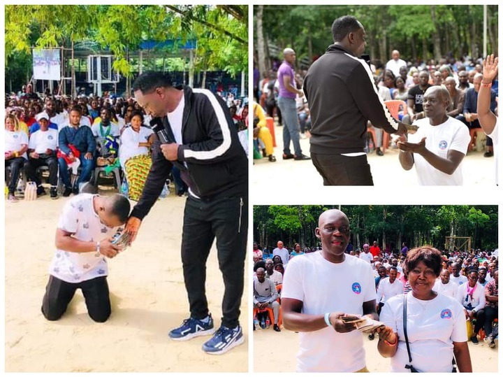 Pictures as Prophet Jeremiah Fufeyin gives cash support to his church members 20