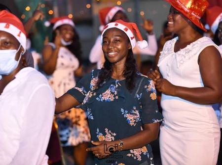 See Photos from the Carol's Night Service, held at the forecourt of the Akuse Government Hospital