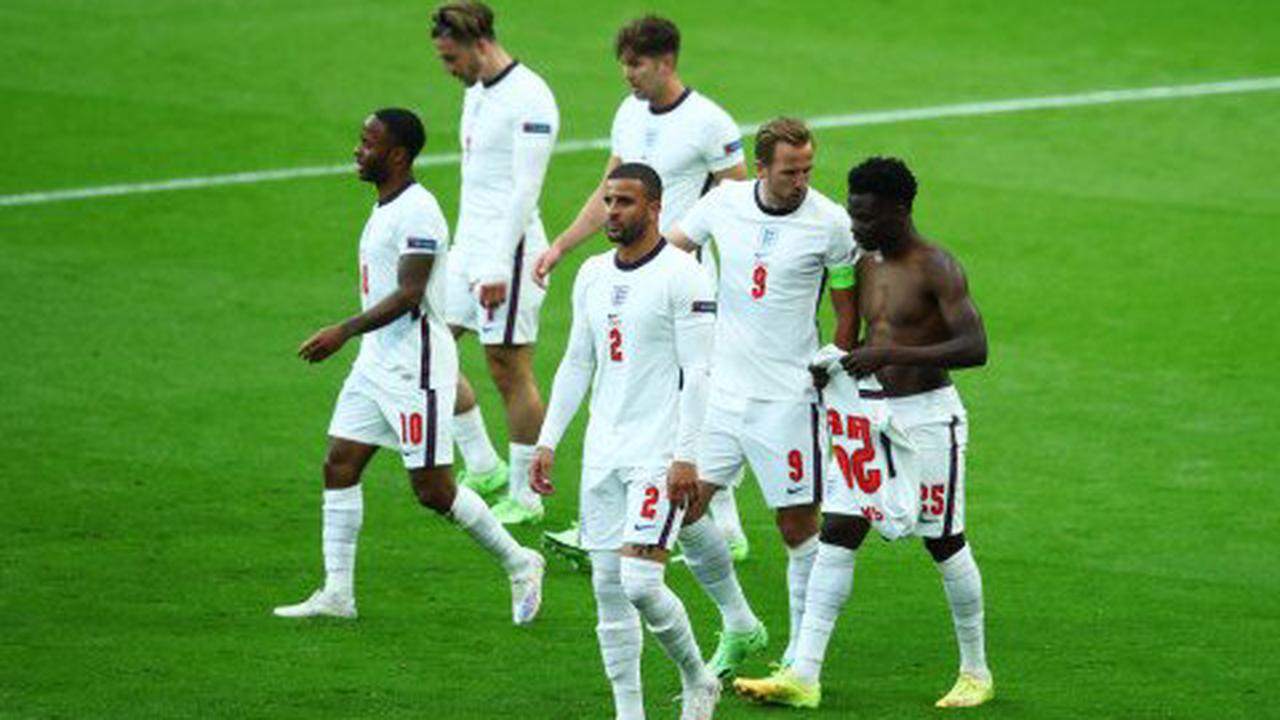Bukayo Saka explains why he took his England shirt off after Sterling's goal
