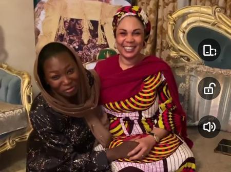 VIDEOS: Reactions As Jaruma Kneels To Great Katsina First Lady, Hajiya Binta Masari.