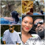Sarkodie Celebrates His Wife's Birthday In A Swimming Pool But Gets Attacked Because Of This