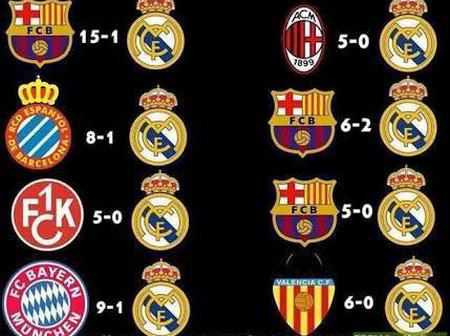 8 Times Big Team Humiliated Real Madrid in Their 2 Legged Match