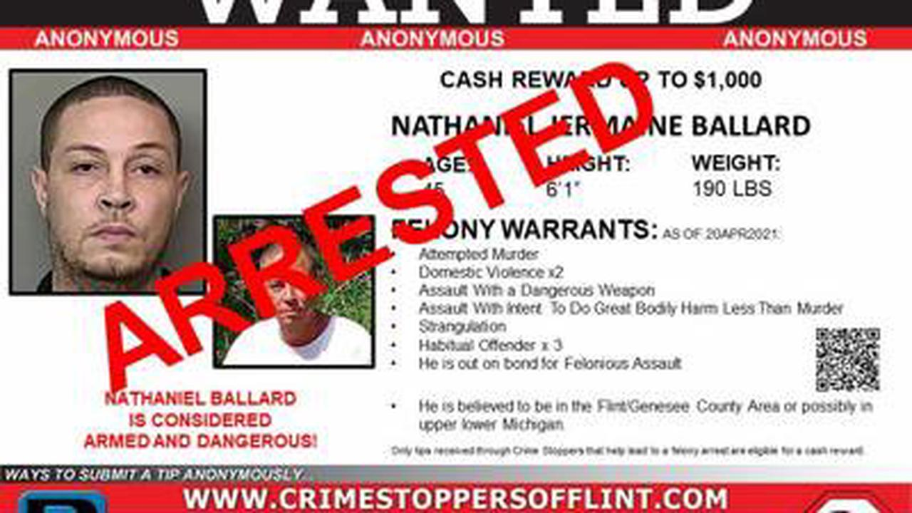 Fugitive considered armed and dangerous arrested