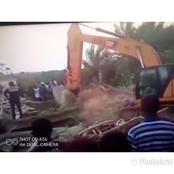 See Sad Photos of The Collapse Church Building At Batabi In The Eastern Region.