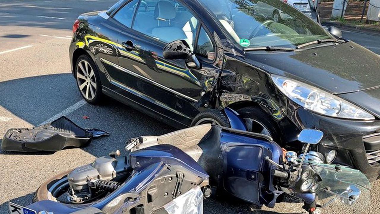 Unfall auf Hindenburgplatz in Hildesheim: Rollerfahrer schwer verletzt