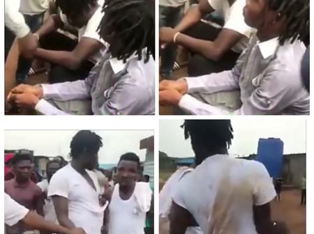 Young Man Caught Stealing Phones In Egbeda, Lagos State (Video)