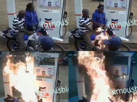 After Okada Man Refused To Turn Off Engine While Refilling His Fuel Tank, Check What Happened Next