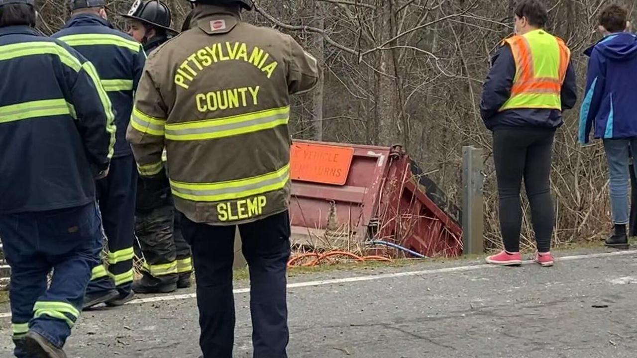 Gruesome Gretna Road dump truck crash leaves man entrapped