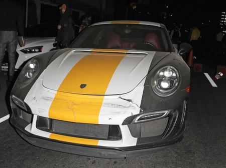 Chris Brown's Surprising Reaction After a Driver Crashed his Porsche