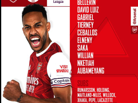 Check out Arsenal's Confirmed starting line up ahead of tie against Sheffield United this afternoon