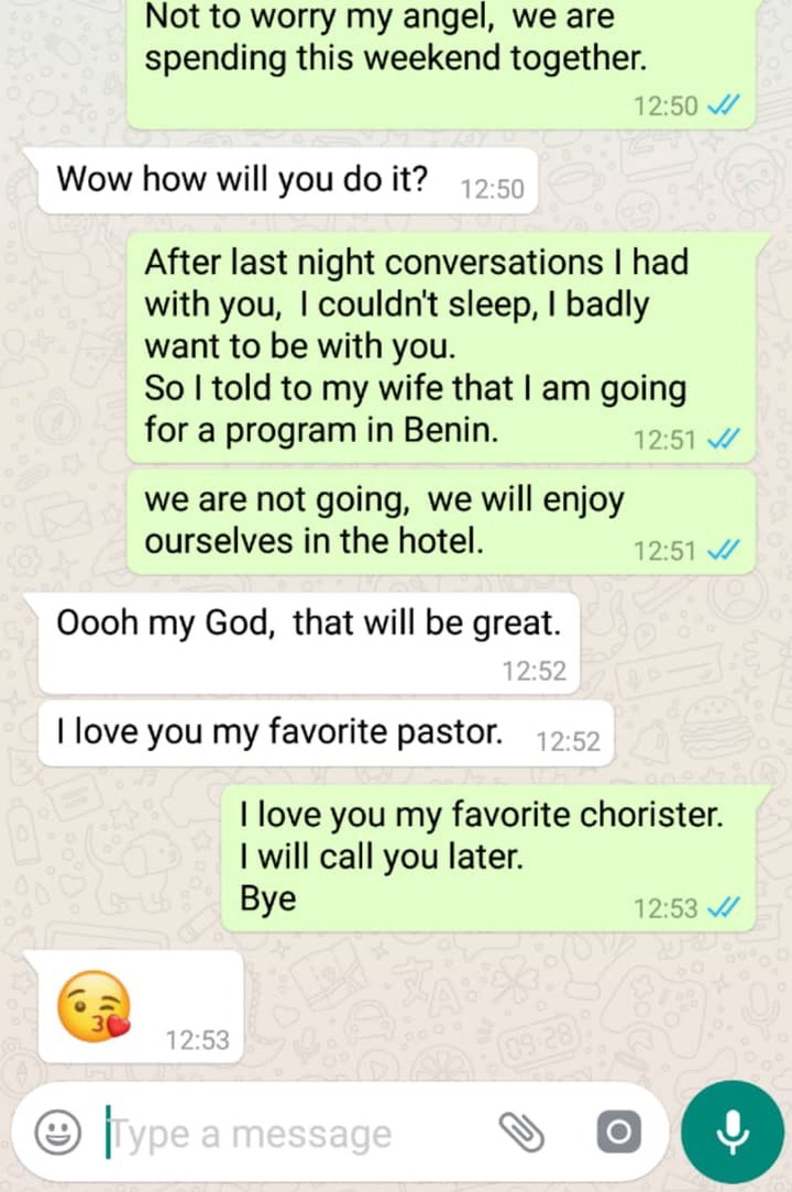 🔞 Romantic Conversion between Pastor And Chorister/Side Chick Exposed. 5