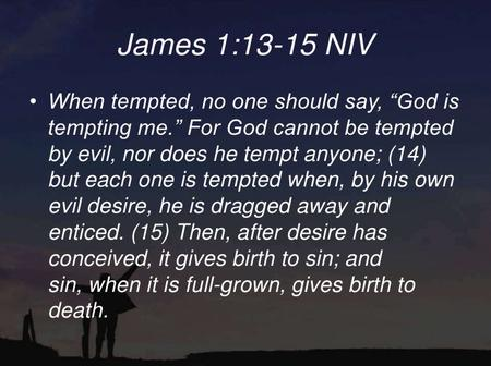 Are Temptation From God?