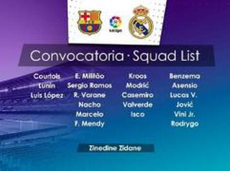 Real Madrid Squad Analysis ahead of their Match Against FC Barcelona