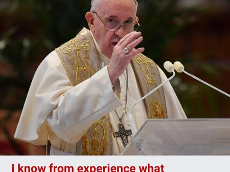 I know first-hand what COVID-19 patients are going through – Pope Francis.