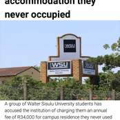 Students billed R34k for accommodation they never use at all, why ? Opinion
