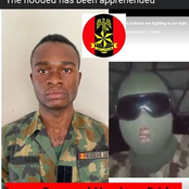 Nigerian Army Arrests Masked Soldier Behind The Viral Video in Support of End SARS Protests