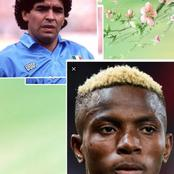 See Victor Osimhen's Reaction to the death of Diego Maradona.