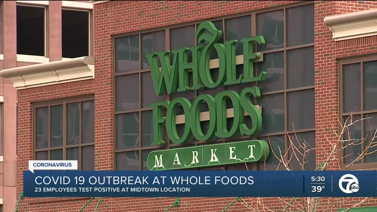 Detroit Whole Foods customers asked to monitor for COVID-`19 symptoms after outbreak
