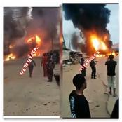 WATCH VIDEO: Tanker Explodes At NNPC Gas Station In Oremeji, Ogun State