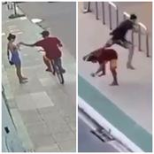 Photos; See What Happened After This Man On Bicycle Snatched A Lady's Phone.