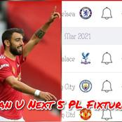 See Manchester United Next 5 Fixtures In The Premier League