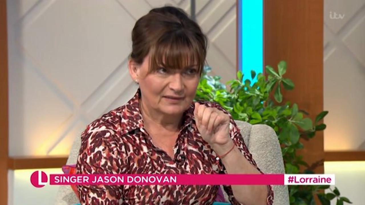 Lorraine Kelly shocks viewers after she swears during Jason Donovan interview