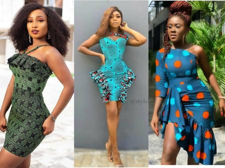Ladies, Checkout These Elegant and Attractive Ankara Short Gown Designs